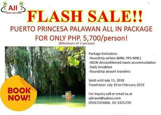 3D2N PALAWAN ALL IN PACKAGE