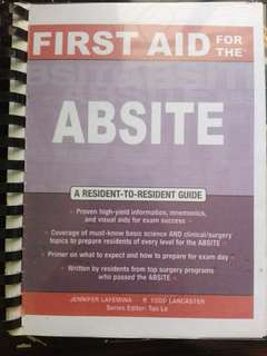FIRST AID for the ABSITE by Lancaster & Lafemina