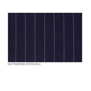 Italian Navy Pinstriped Cotton by the metre