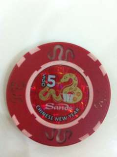 Marina bay sands casino cash chips 2013 limited edition