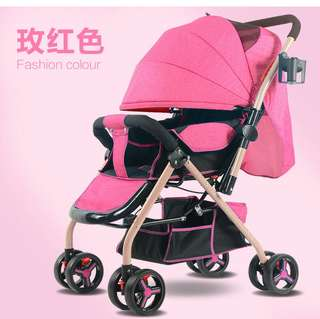 In stock baby stroller /baby pram/2 ways/handle can be front and back