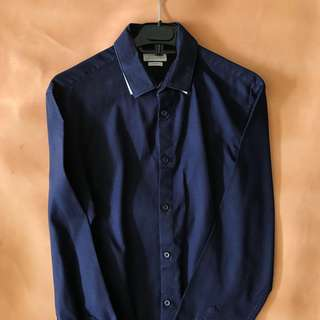 ZARA Man Long Sleeve Shirt Slim Fit Size S