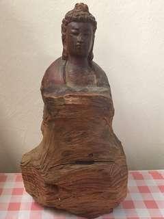 Handcraft Wooden Buddha