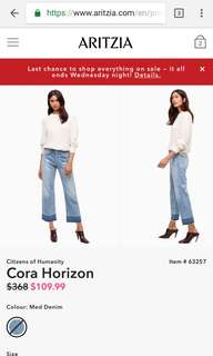 Citizens of humanity Cora crop jeans