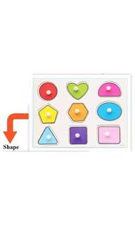 Wooden learning puzzles for babies and kids