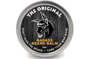 [IN-STOCK] Badass Beard Care Beard Balm For Men - The Original Scent, 2 oz - All Natural Ingredients, Soften Hair, Hydrate Skin to Get Rid of Itch and Dandruff, Promote Healthy Growth
