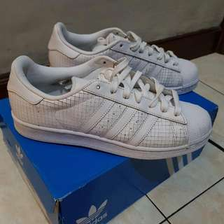 Adidas SUPERSTAR Full Leather Limited Edition Size 40 2/3