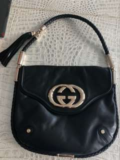 Gucci Britt Medium Tassel Shoulder Bag