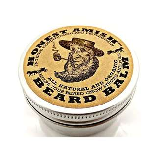 [IN-STOCK] Honest Amish Beard Balm Leave-in Conditioner - Made with only Natural and Organic Ingredients - 2 Ounce Tin