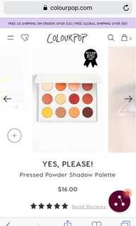 colourpop yes, please! pressed powder eyeshadow palette