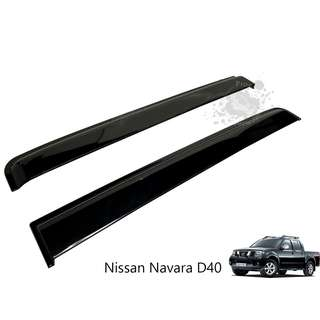 NISSAN NAVARA D40 (NNS-123) DOOR VISOR IMPORT BLACK
