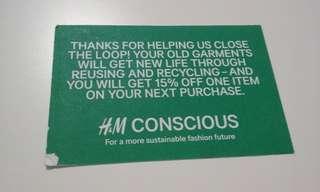 🚚 15% off H&M