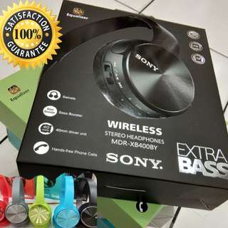 Headphone Bluetooth Wireless SONY MDR-XB400BY SUPERBASS