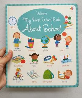 Baby book - usborne my first word book about school