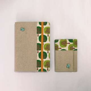 tree print rustic name card holder 5R photo album set from japan