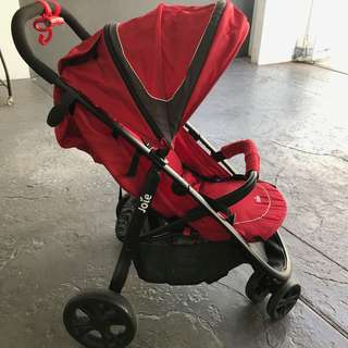 Joie Stroller (Litetrax 3) + Joie Gemm (Infant Car Seat / Carrier)+ Car Base - Joie Travel System