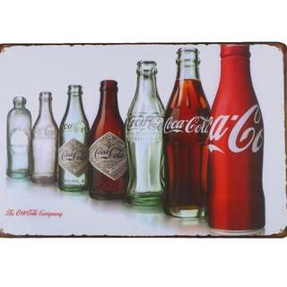 Coca Cola Vintage Advertising Metal Plate