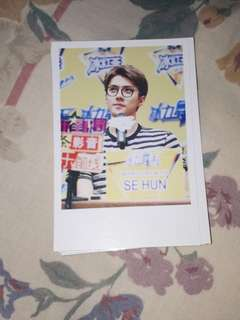 SEHUN EXO PHOTO CARD POLAROID