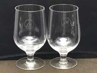 Vintage MSA Malaysia Singapore Airlines Wine Glass