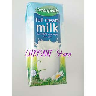 Susu UHT Greenfields Plain 24 x 200 mL