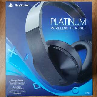 Sony Platinum Wireless Headset 2018 for PS4