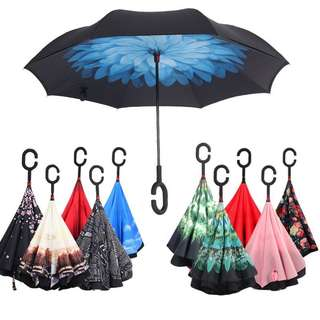 [Stock Clearance] Inverted Umbrella Double Layer with C Handle