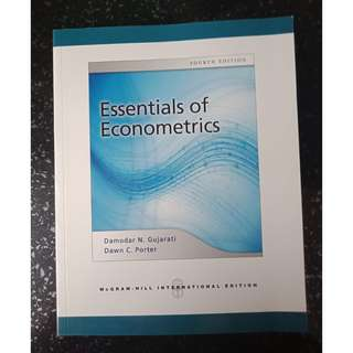 Used Essentials of Econometrics Textbook (Fourth Ed)