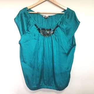 Guess Emerald Silk Top