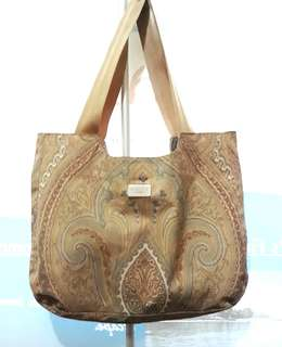 Elit Profumi Imported Paisley Design Nylon Canvas Tote