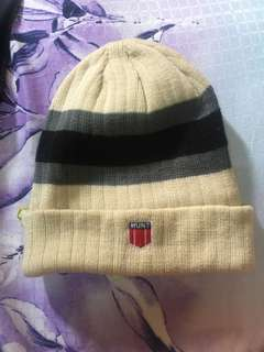 Beige knitted Beanie