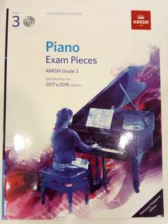 ABRSM Piano Exam Pieces 2017-2018 Grade 3 with CD Book/Score (CLEARANCE!!)