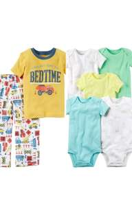 100% Authentic CARTERS 2-Sets of 5pc & 2pc Baby Boy Clothing  for 24months