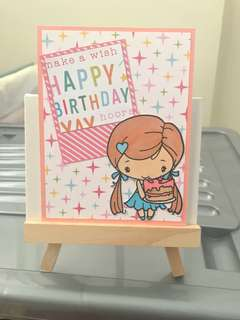(READYMADE) Handmade Birthday Card