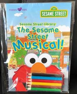 Sesame Street colour activity book