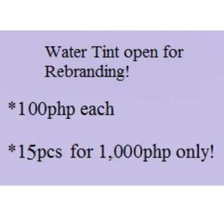 Water Tint for Rebranding
