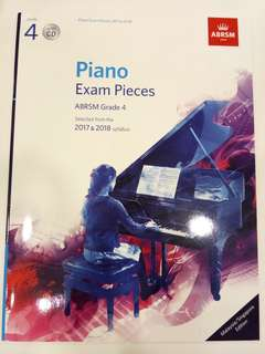 ABRSM Piano Exam Pieces 2017-2018 Grade 4 with CD Book/Score (CLEARANCE!!)