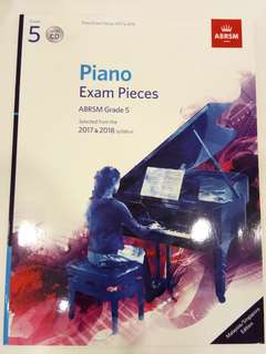 ABRSM Piano Exam Pieces 2017-2018 Grade 5 with CD Book/Score (CLEARANCE!!)