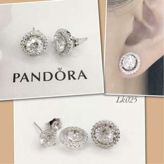 Pandora Italy White Gold 10K 2in1 Stud Earrings with High Grade Russian Stones Saudi Gold 18K Authentic Bangkok Stud Earrings (Not Pawnable)