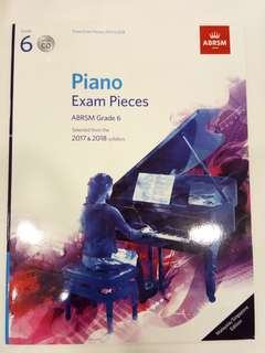 ABRSM Piano Exam Pieces 2017-2018 Grade 6 with CD Book/Score (CLEARANCE!!)