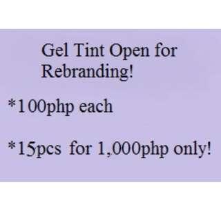 Gel Tint open for Rebranding!