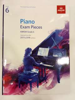 ABRSM Piano Exam Pieces 2017-2018 Grade 6 Book/Score (CLEARANCE!!)