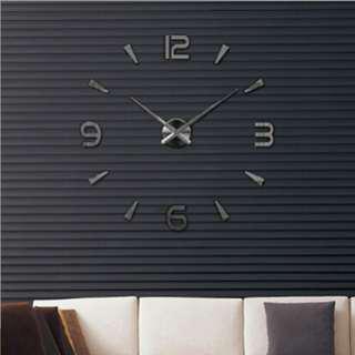 3D Mirror DIY Wall Clock