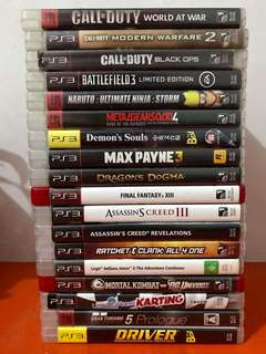 PS3 games P299 each