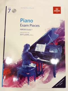 ABRSM Piano Exam Pieces 2017-2018 Grade 7 with CD Book/Score (CLEARANCE!!)