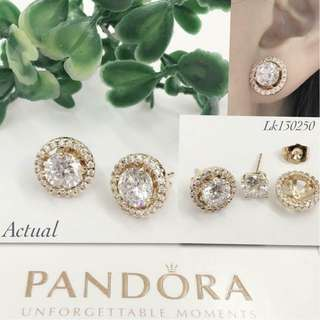 Pandora Italy Gold 10K 2in1 Stud Earrings with High Grade Russian Stones Saudi Gold 18K Stud Earrings (Not Pawnable)
