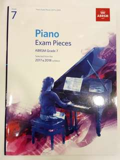 ABRSM Piano Exam Pieces 2017-2018 Grade 7 Book/Score (CLEARANCE!!)