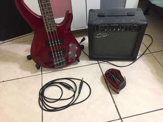 🚚 Yamaha TRBX-304 Bass Guitar with Bass Amplifier 15 watts