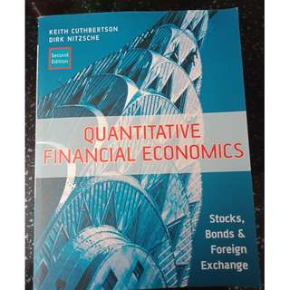 Used Quantitative Financial Economics Textbook (2nd Ed)