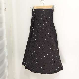 🆕BRAND NEW Polkadot Black Maxi Skirt