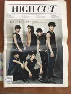 EXO-K HIGH CUT Magazine